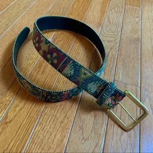 Accessories - EUC - Multicolor Embroidered Leather Bonded Belt